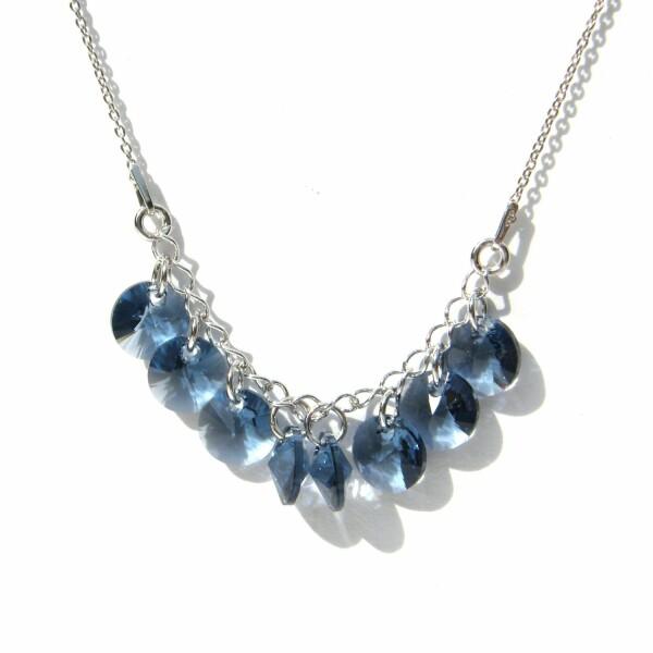 Collier Indicolite Helen en argent et cristaux Swarovski bleus