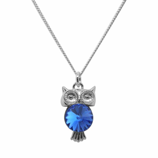 Collier Indicolite Jazz en argent et cristaux Swarovski bleus