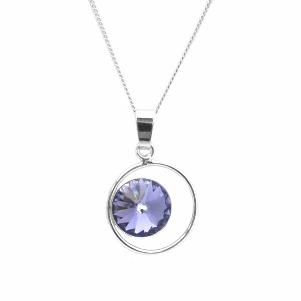 Collier Indicolite Juliette en argent et cristaux Swarovski violets