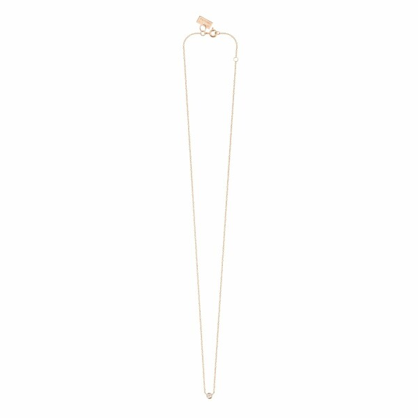 Collier Vanrycke One en or rose et 1 diamant