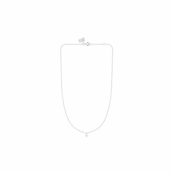 Collier Vanrycke Stardust en or blanc et 1 diamant