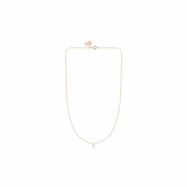Collier Vanrycke Stardust en or rose et 1 diamant