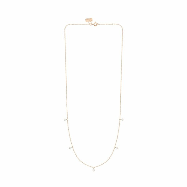 Collier Vanrycke Stardust en or rose et 5 diamants