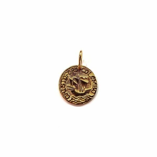 Médaille Corse Mariotti Calvi C.C en or jaune, 20mm