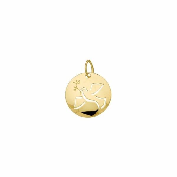 Médaille Colombe en or jaune