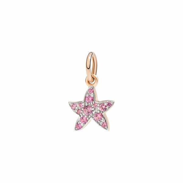 Pendentif Dodo Étoile en or rose et spinelle