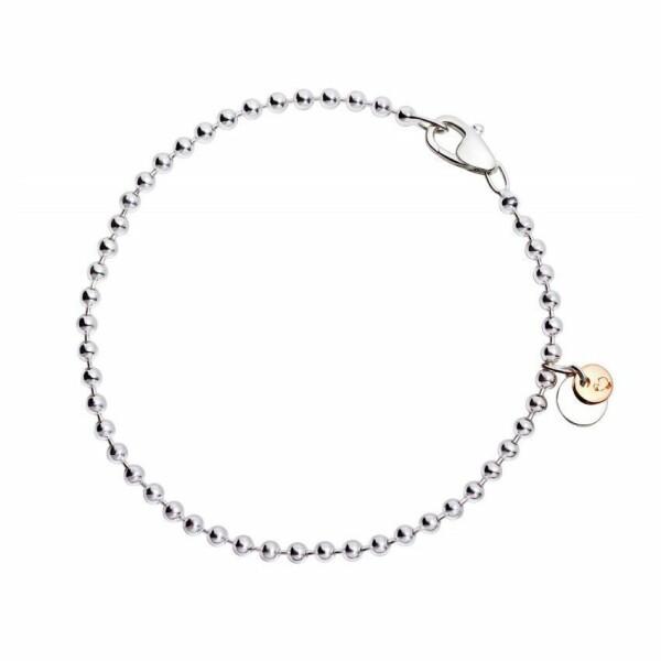 Bracelet boules DoDo en Argent et or rose longueur 17cm