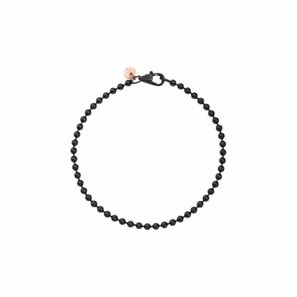 Bracelet DoDo Every Day en argent, PVD noir et or rose