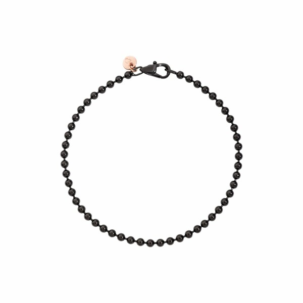 Bracelet Dodo Everyday en argent, pvd noir et or rose