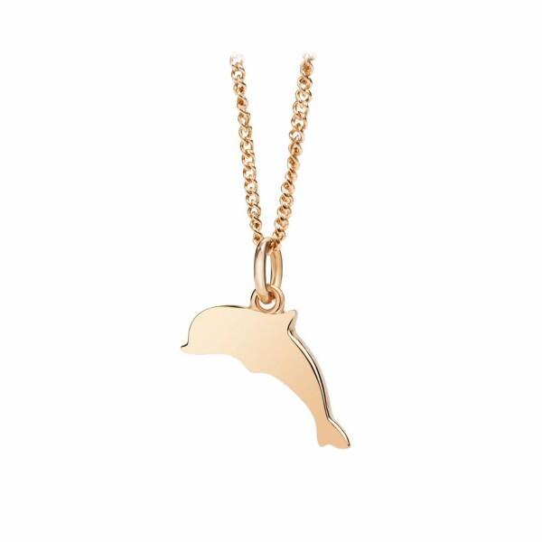 Collier Dodo petit dauphin en or rose