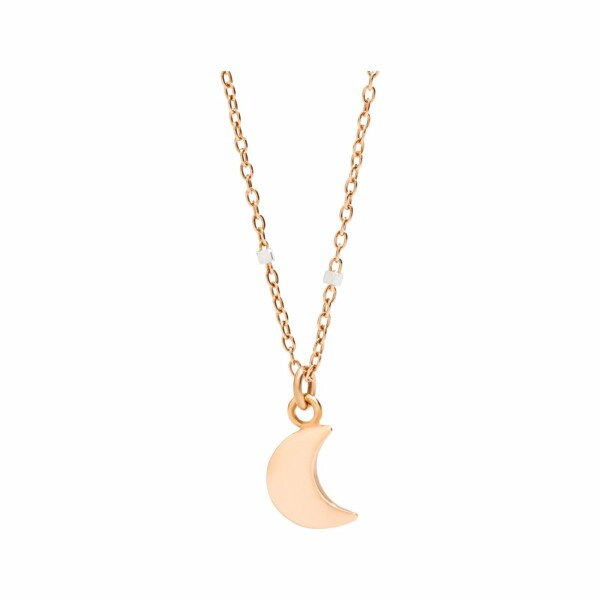 Collier DoDo Lune en or rose, or blanc et rhodium