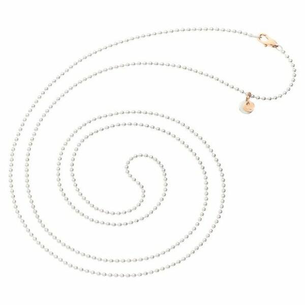Chaînette DoDo Everyday en argent et or rose, longueur 90cm