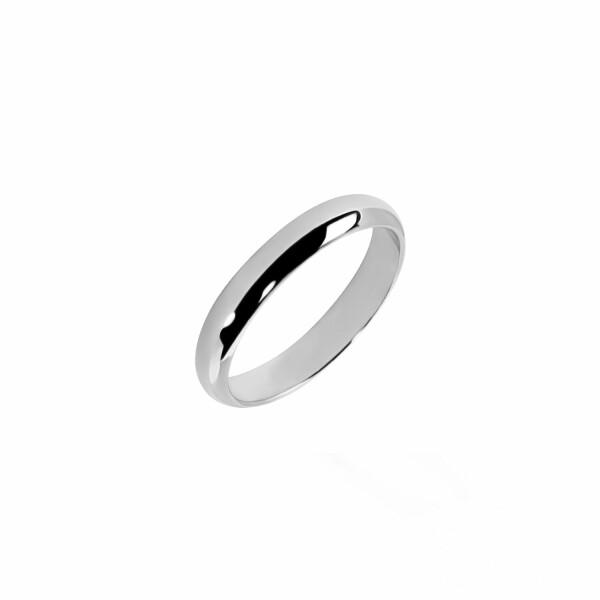 Alliance Demi-Jonc en or blanc, 3mm