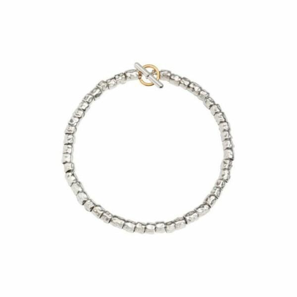 Bracelet DoDo Grains en Argent et or jaune longueur 16.5cm