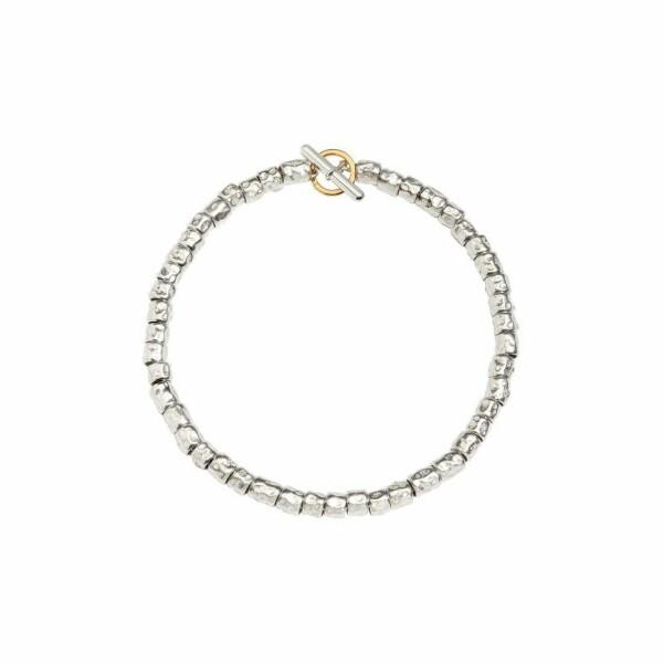 Bracelet DoDo Grains en Argent et or jaune longueur 18cm