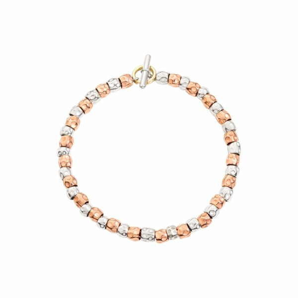 Bracelet DoDo en or rose et argent 17.5 cm