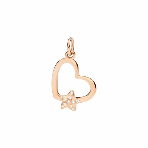 Pendentif DoDo Amour Cœur en or rose et diamants