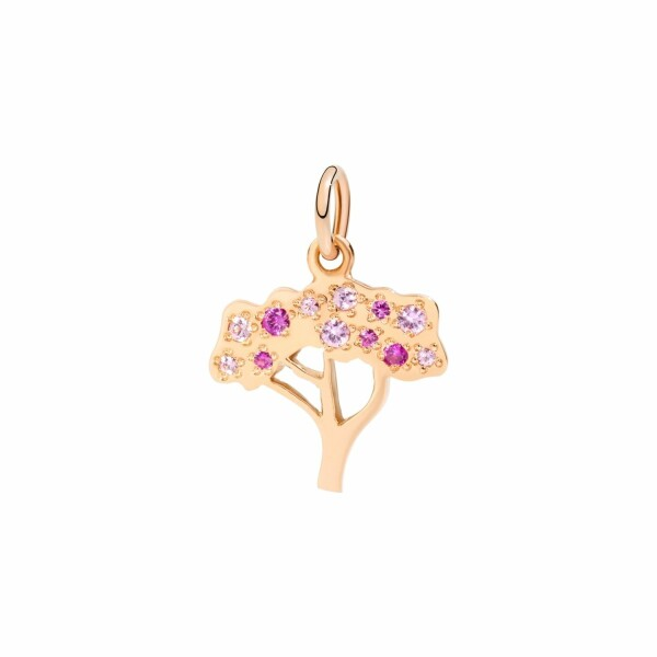 Pendentif DoDo Nature Cerisier en or rose et saphir rose