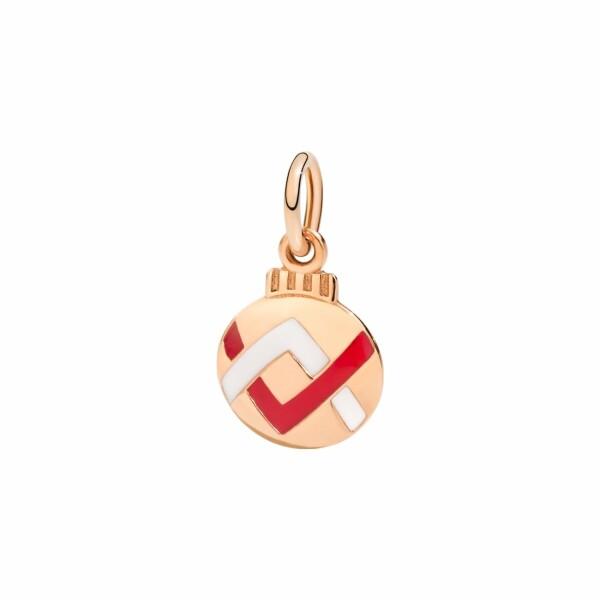 Charm DoDo Boule de Noël en or rose et émail