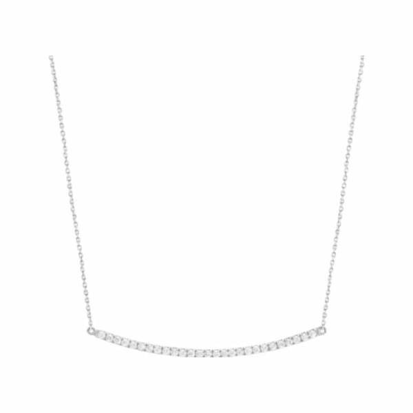 Collier Djula Barre en or blanc et diamants