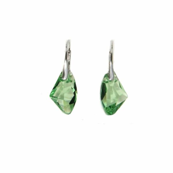 Boucles d'oreilles Indicolite Alicia en argent et cristaux Swarovski verts