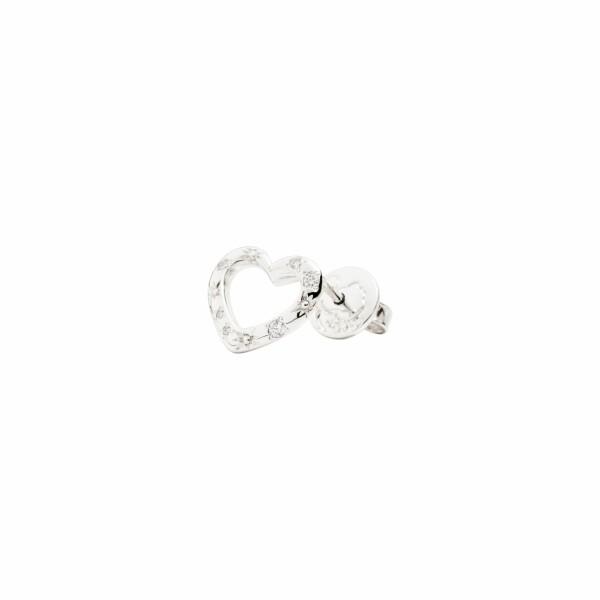 Boucle d'oreille DoDo Amour Cœur en or rose et diamants