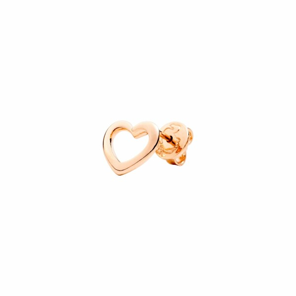 Boucle d'oreille DoDo Amour Cœur en or rose