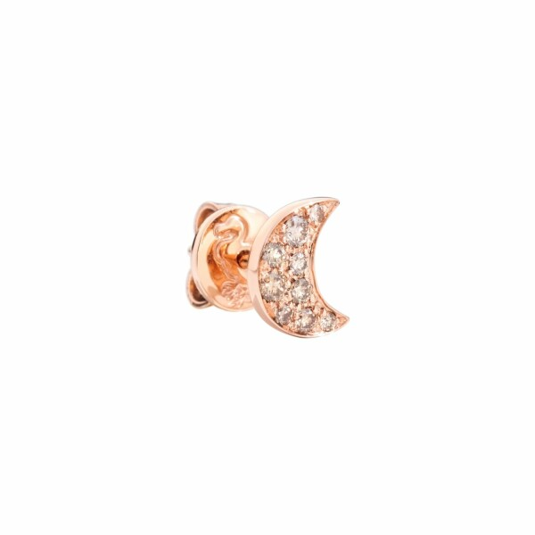Boucles d'oreilles DoDo Etoile en or rose et diamants bruns 0.15ct
