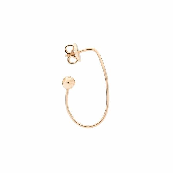 Mono Boucle d'oreille Dodo Ovale en or rose