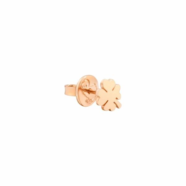 Boucles d'oreilles DoDo Trèfle à quatre feuilles en or rose