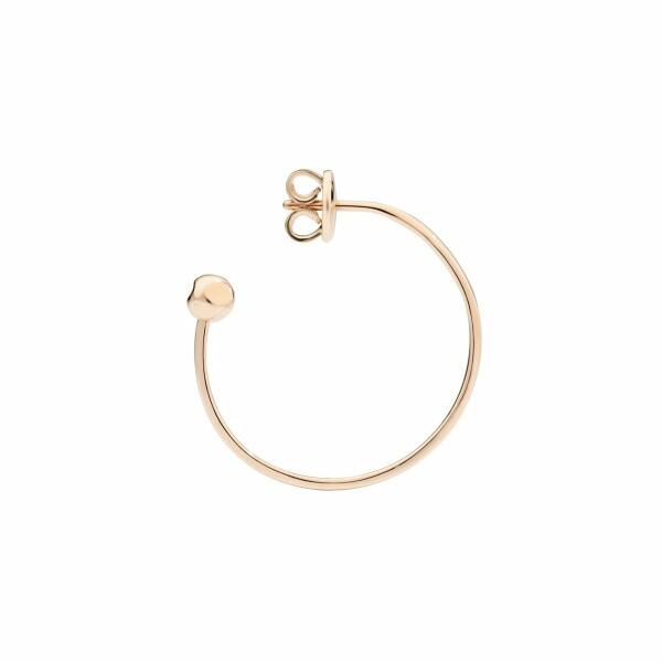 Mono Boucle d'oreille Dodo Créole en or rose