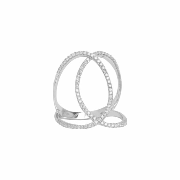 Alliance Djula Double C en or blanc et diamants