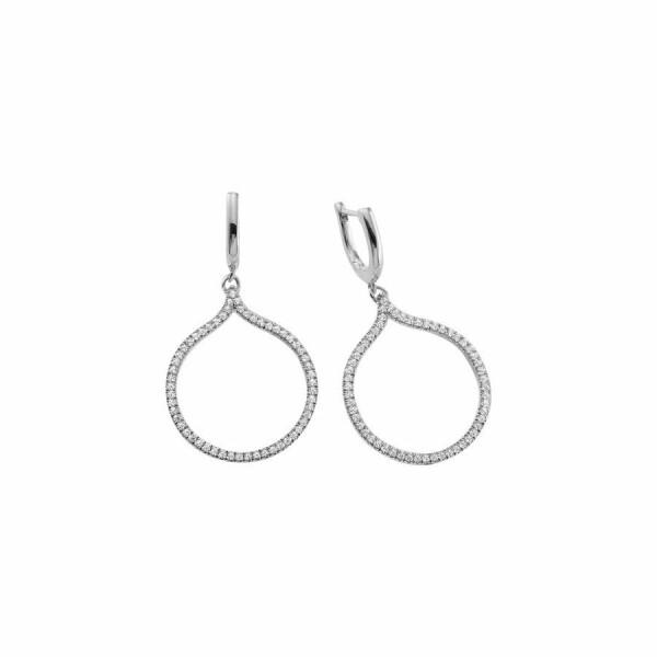 Boucles d'oreilles en or blanc et diamants de 0.336ct