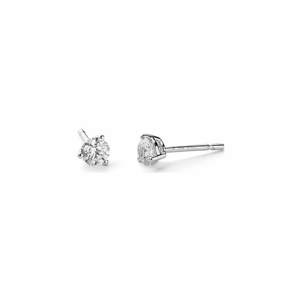 Boucles d'oreilles en or blanc et diamants de 0.8ct
