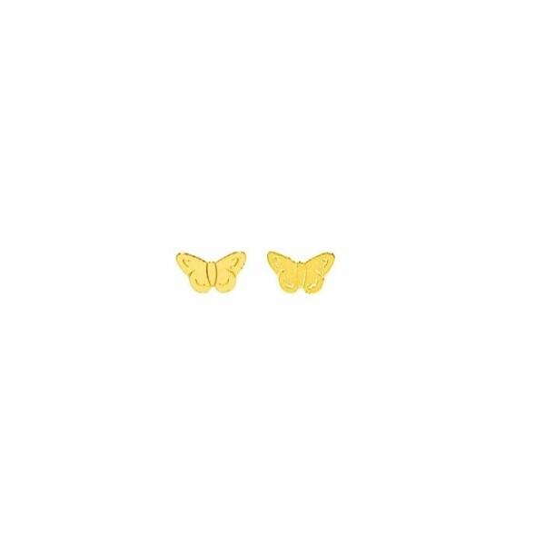 Boucles d'oreilles Papillon en or jaune