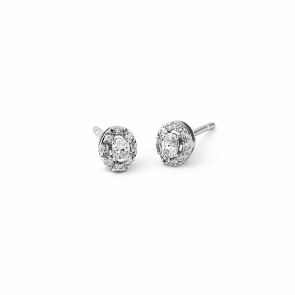 Boucles d'oreilles en or blanc et diamants de 0.35ct