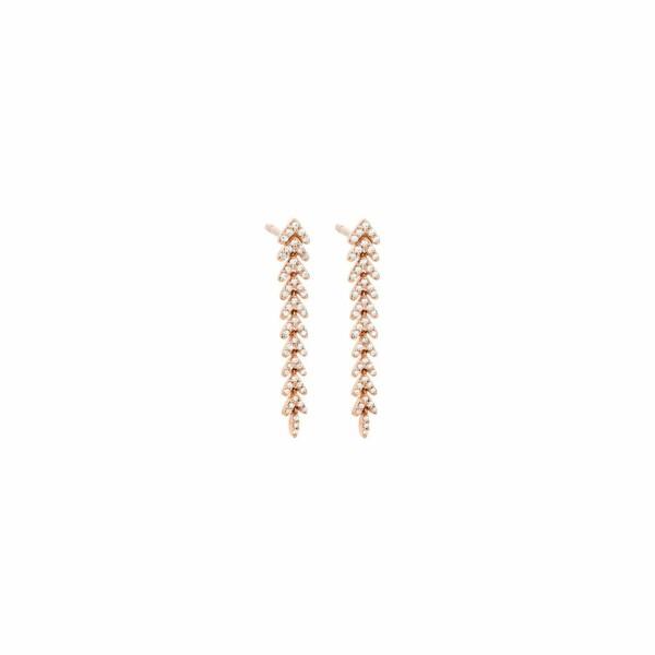 Boucles d'oreilles en or rose et diamants de 0.3ct