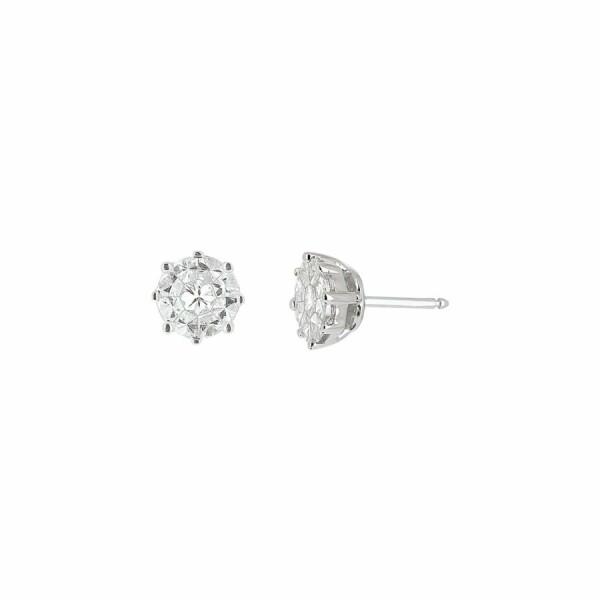 Boucles d'oreilles en or blanc et diamants de 0.9ct