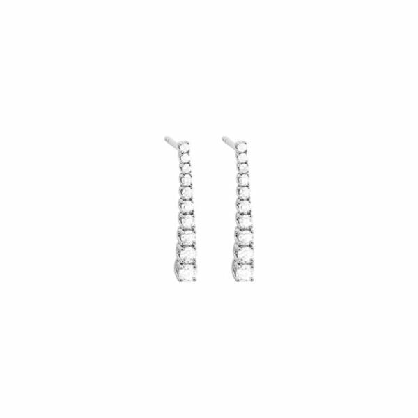 Boucles d'oreilles en or blanc et diamants de 0.74ct