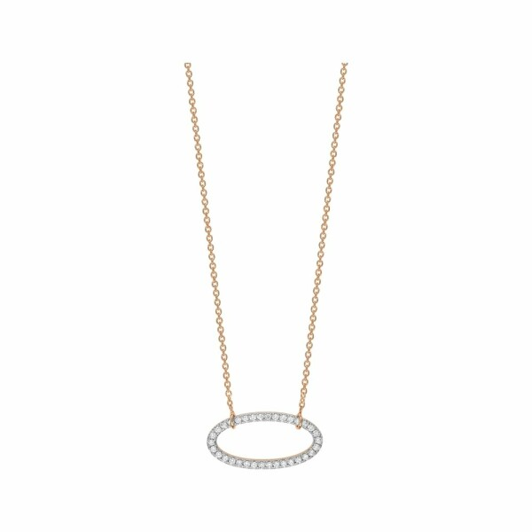 Collier GINETTE NY ELLIPSES & SEQUINS en or rose et diamants