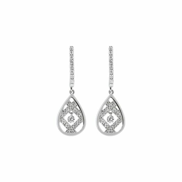 Boucles d'oreilles en or blanc et diamants de 0.37ct