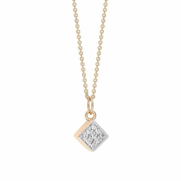Collier GINETTE NY EVER en or rose et diamants