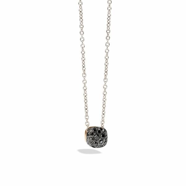 Pendentif sur chaîne Pomellato Nudo en Or rose, or blanc et Diamant noir
