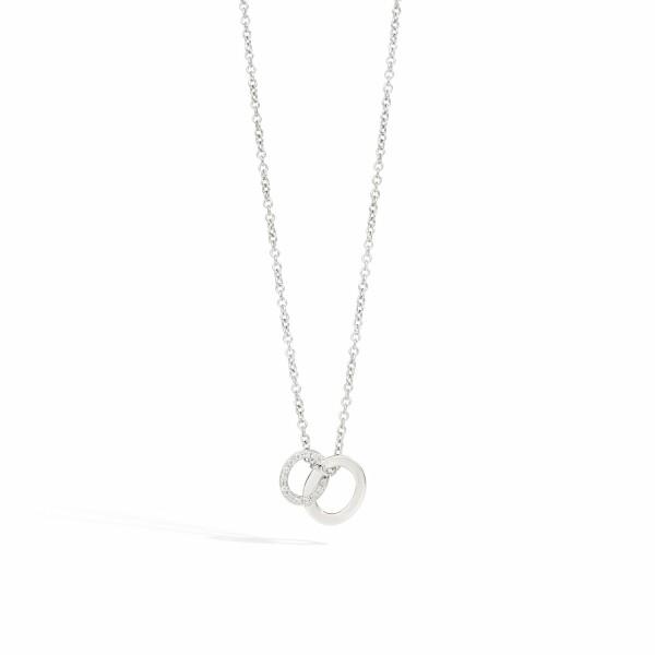 Collier avec pendentif Pomellato Brera en or blanc et diamants