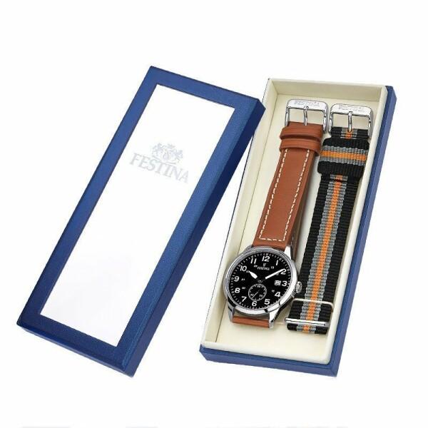 Coffret de montre Festina Rétro F20347/7 avec bracelet supplémentaire