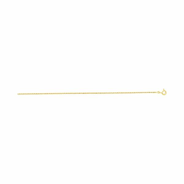 Chaîne maille forçat diamantée en or jaune épaisseur 1.40mm