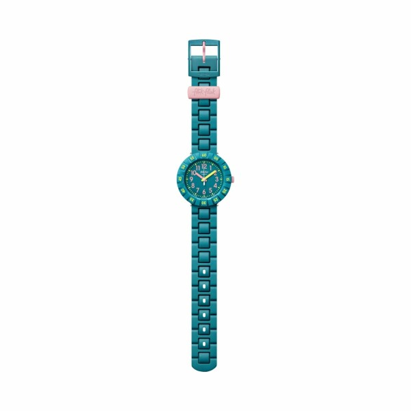Montre Flik Flak Power Time Solo Petrol
