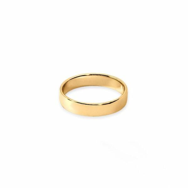 Alliance Fidélis en or jaune, 4mm