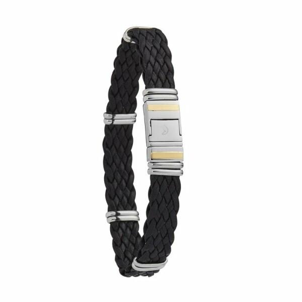 Bracelet Jourdan Bijoux Eannes en cuir et acier
