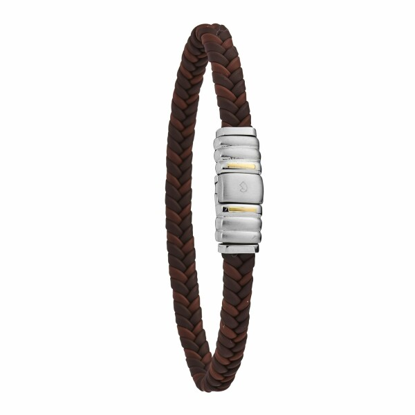 Bracelet Jourdan Bijoux en acier, cuir